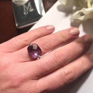 14k White Gold Amethyst Ring